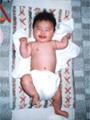 生後3ヶ月の女の赤ちゃんの写真