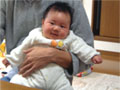 生後3ヶ月の男の赤ちゃんの写真
