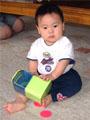 生後9ヶ月の男の赤ちゃんの写真