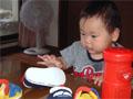 生後10ヶ月の男の赤ちゃんの写真