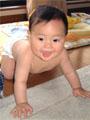 生後8ヶ月の赤ちゃんの写真
