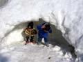 雪かまくらの写真