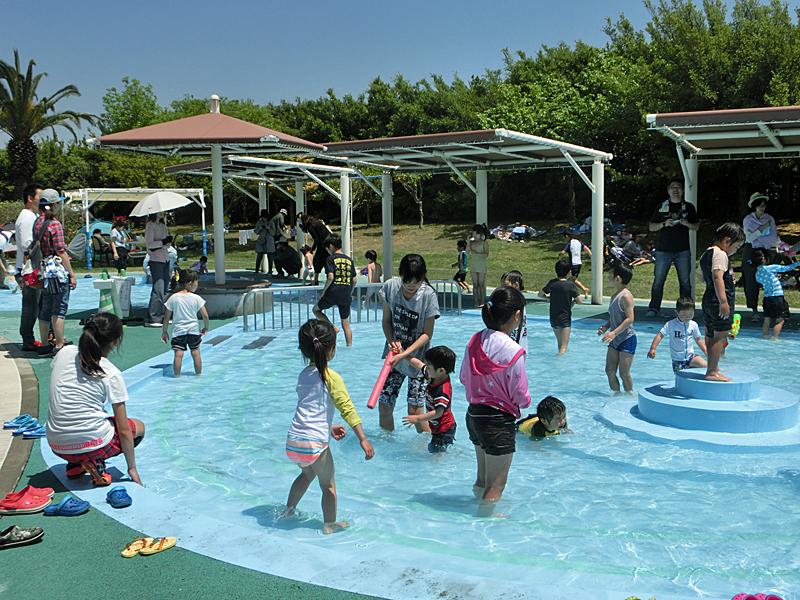 明石海峡公園 じゃぶじゃぶ池 水遊び