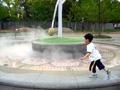長居公園 霧噴射