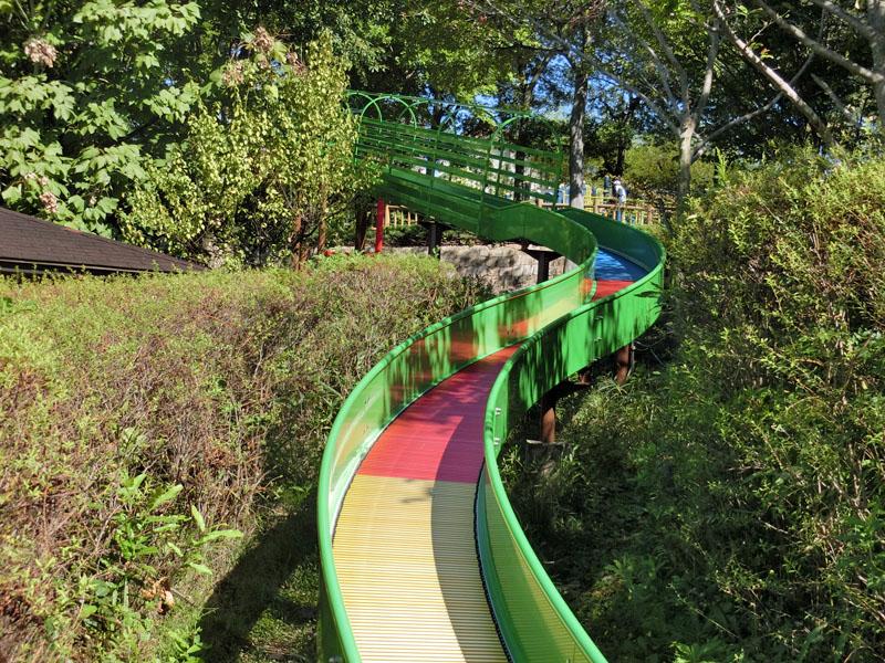 竹取公園 冒険の森 遊具 ローラー滑り台