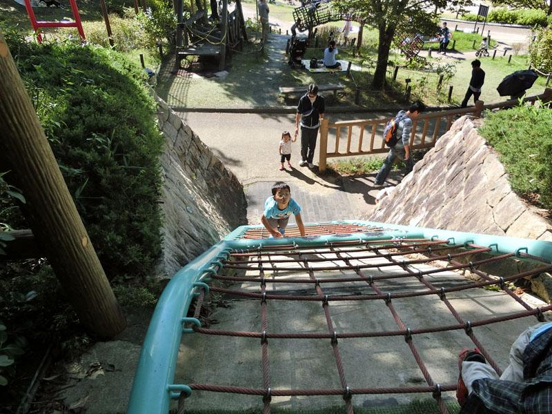 竹取公園 冒険の森 遊具 ネットクライミング