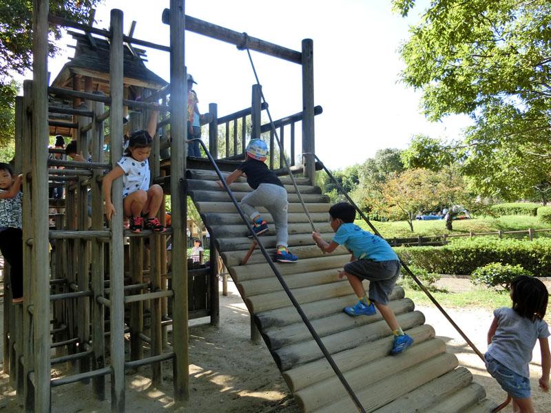 竹取公園 木製アスレチック遊具