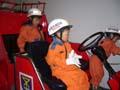 阿倍野防災センター 消防車