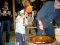 大阪くらしの今昔館(かしわ餅作り)