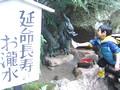 和歌山県那智勝浦 那智の滝 延命長寿のお滝水