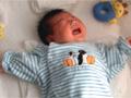 生後1ヶ月の男の赤ちゃんの写真
