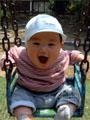 生後8ヶ月の男の赤ちゃんの写真
