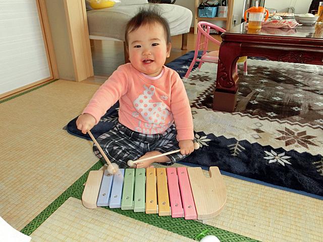 生後11ヵ月 木琴
