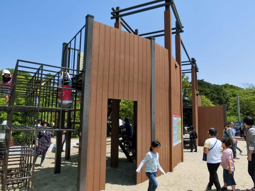 淡路島公園 木製アスレチック遊具
