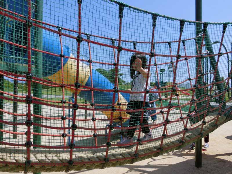 びわこ地球市民の森 大型アスレチック遊具 ロープ遊具
