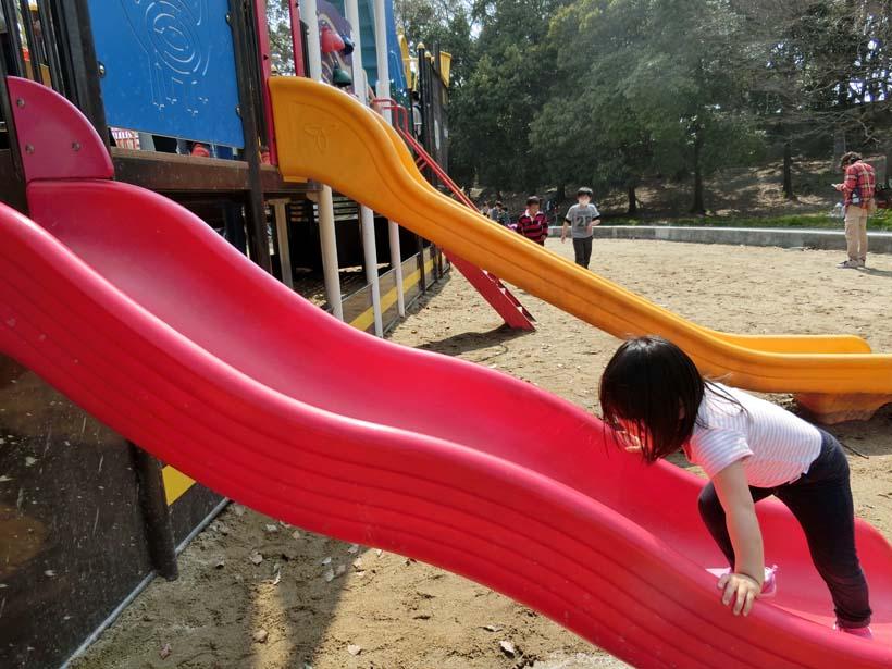 深北緑地公園 恐竜広場 滑り台