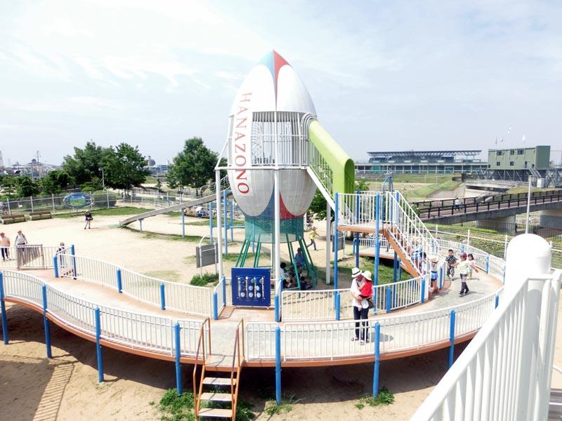 花園中央公園 大型遊具 ロケット広場