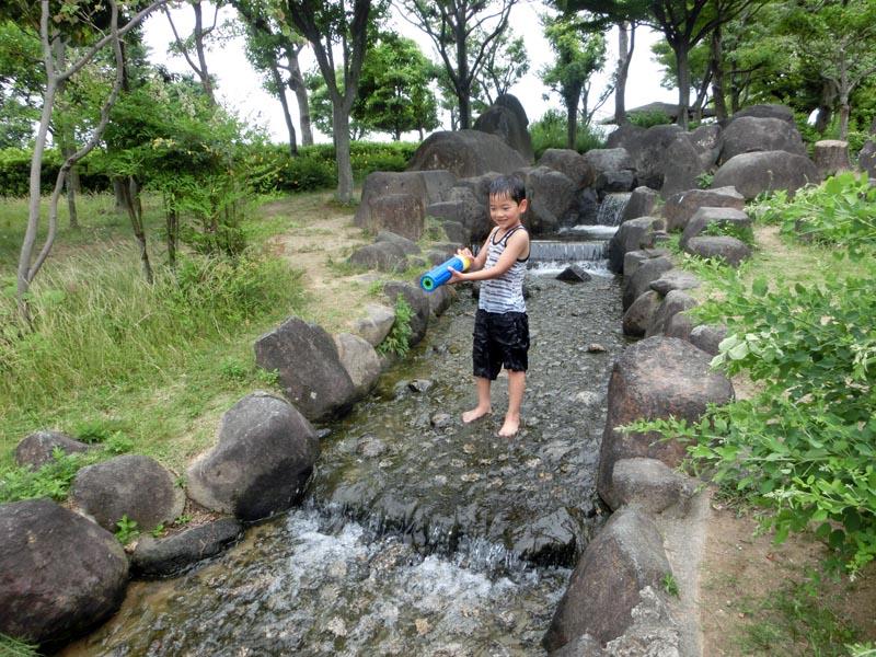 花園中央公園 水遊び