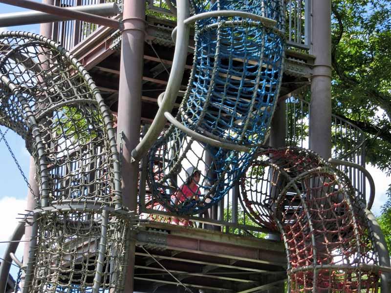 鴻巣山運動公園(城陽市総合運動公園) ジャングルロープ遊具