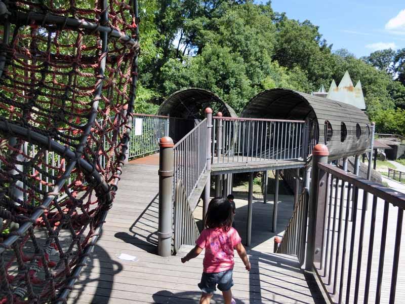 鴻巣山公園(城陽市総合運動公園) アスレチック遊具