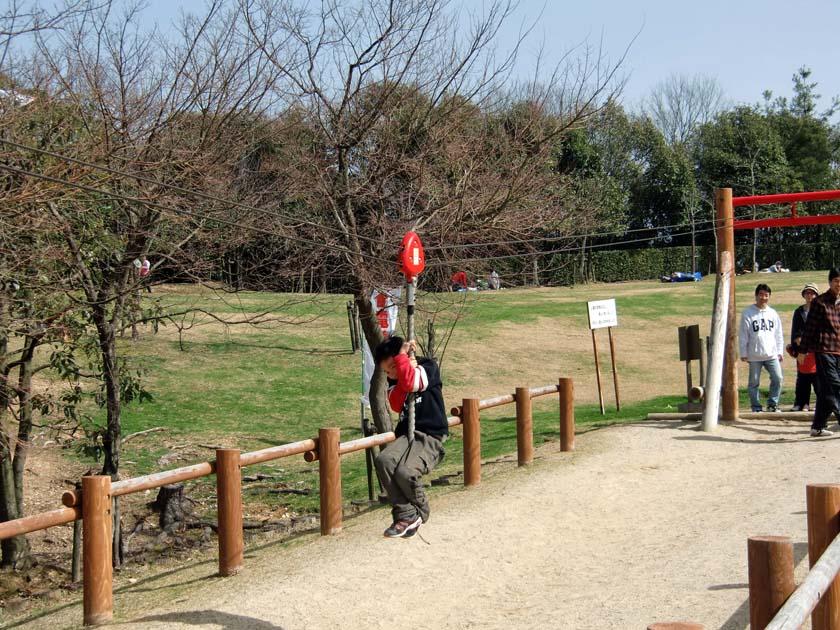 京都府立山城総合運動公園(太陽が丘) アスレチック ターザンロープ