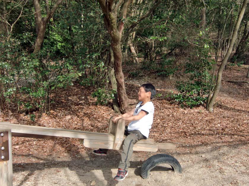 京都府立山城総合運動公園(太陽が丘) ロープとネットのアスレチック施設