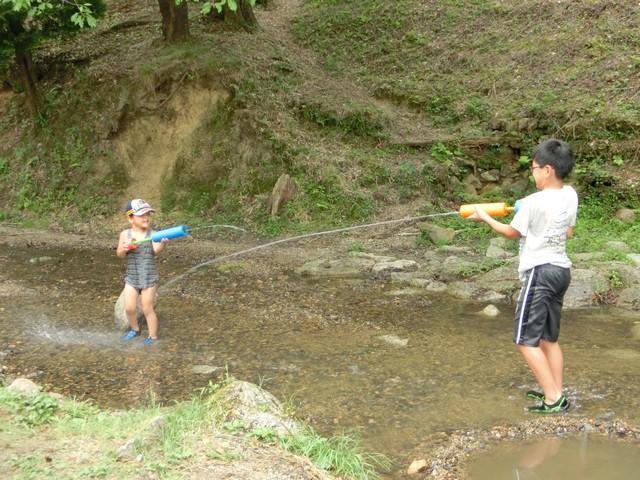 山城森林公園 川遊び 水遊び 水着