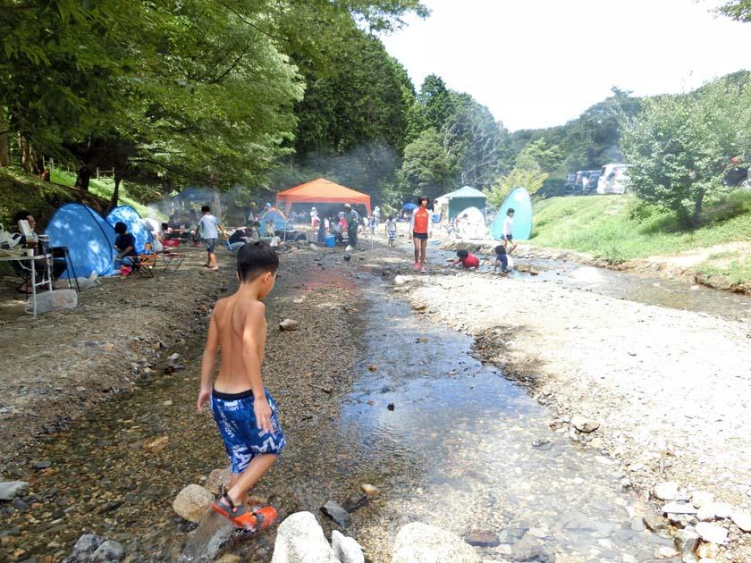 山城森林公園 川遊び