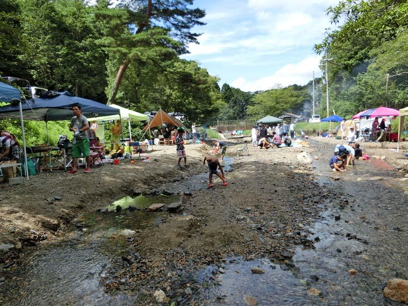 山城森林公園 川遊び バーベキューポイント