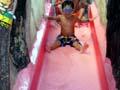 鶴見緑地プール 小さい滑り台