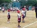 ドッジボール大会、の練習大会