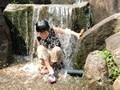 鴻ノ巣山運動公園で水遊び!