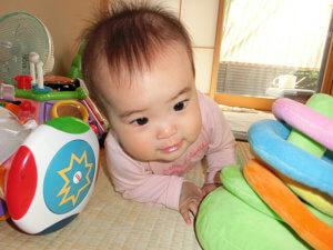 赤ちゃんのおもちゃと遊び(生後8ヵ月)